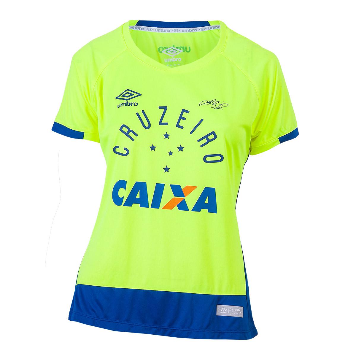 Camisa Fem. Umbro Gole. Cruzeiro 2016 - Verde Vibrante