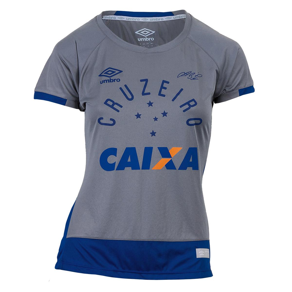 8742ca1d65 Camisa Fem. Umbro Gole. Cruzeiro 2016 - Cinza