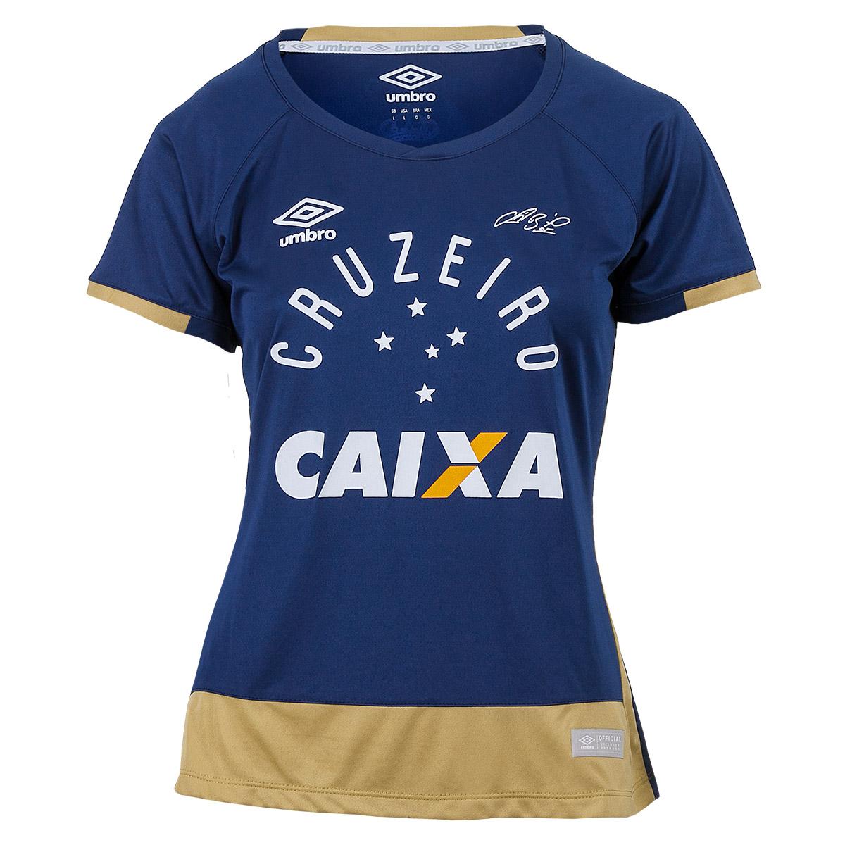 Camisa Fem. Umbro Gole. Cruzeiro 2016 - Azul/Dourado