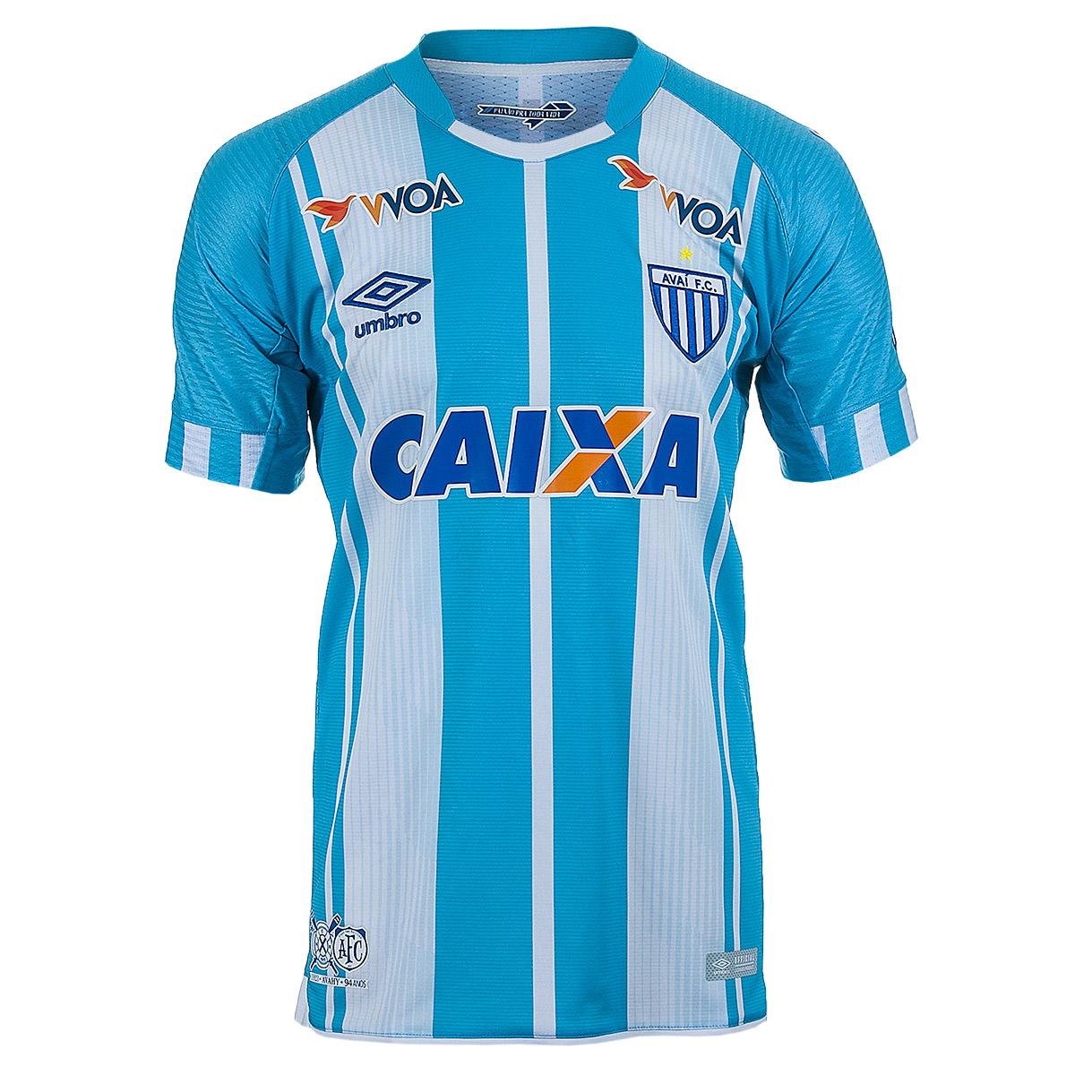 Camiseta Oficial Masc. Umbro Avai 2017 Esporte - Indoor - Azul/Branco