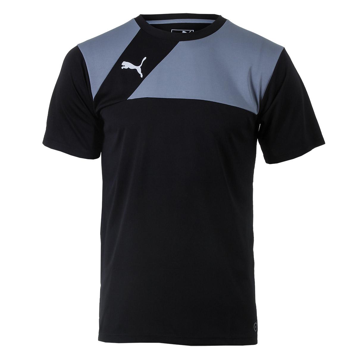 Camiseta Masc. Puma Training Jersey - Preto/Cinza