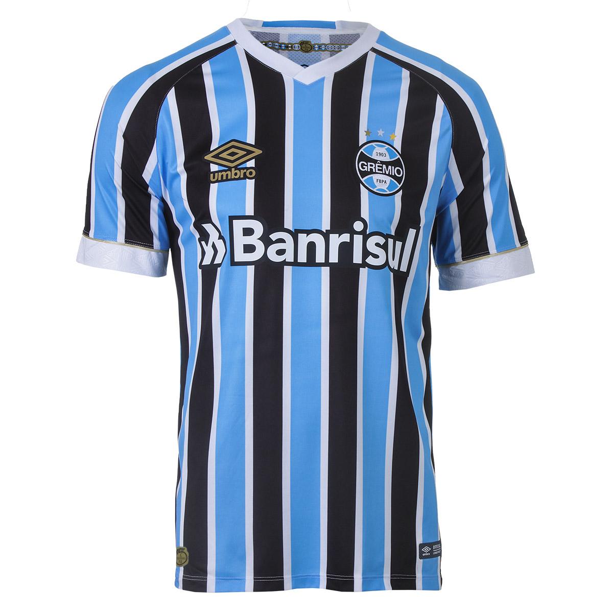 Camiseta Oficial Masc. Umbro Gremio - Azul/Branco