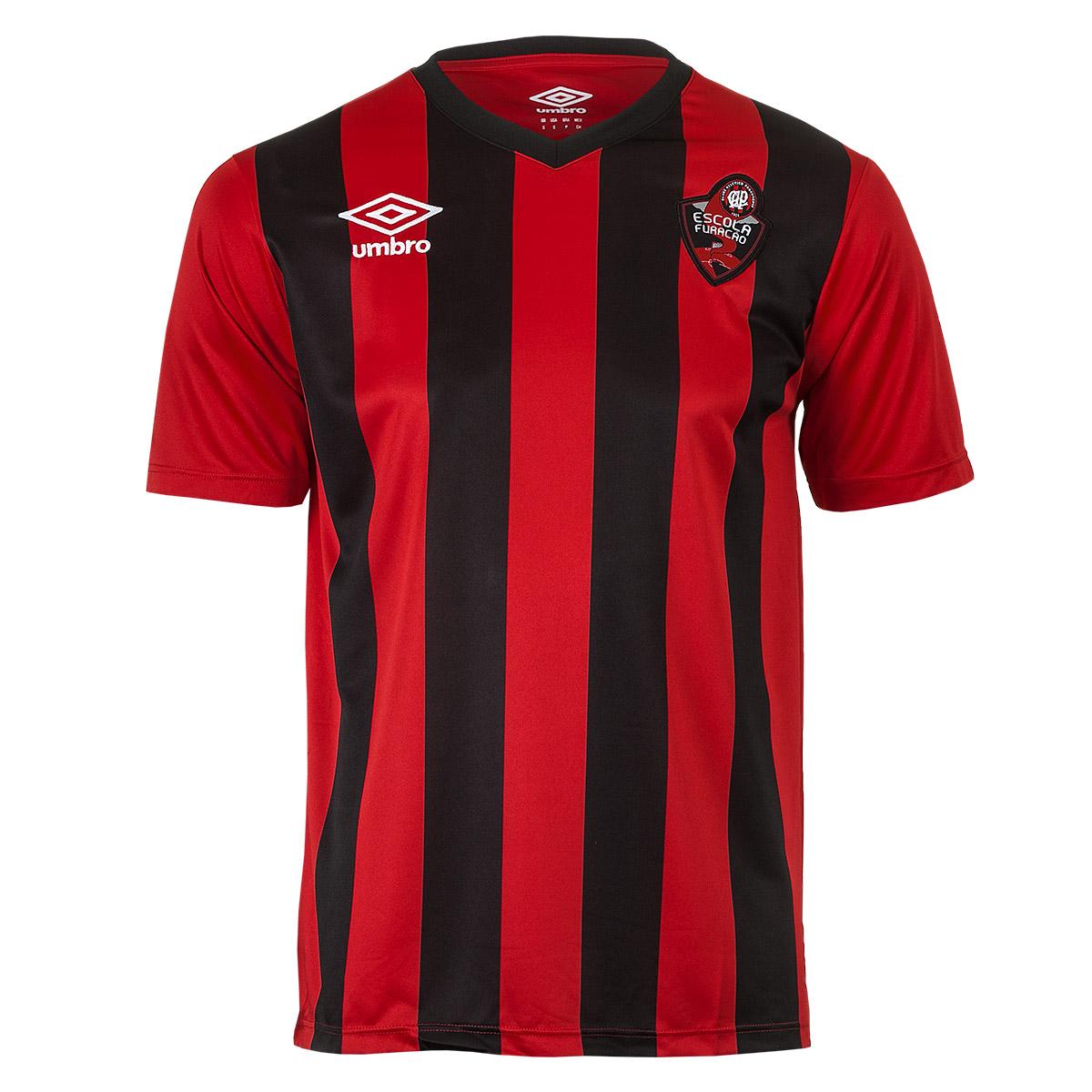 Camisa Juvenil Umbro Escolinha Furacao 2 Futebol - Vermelho