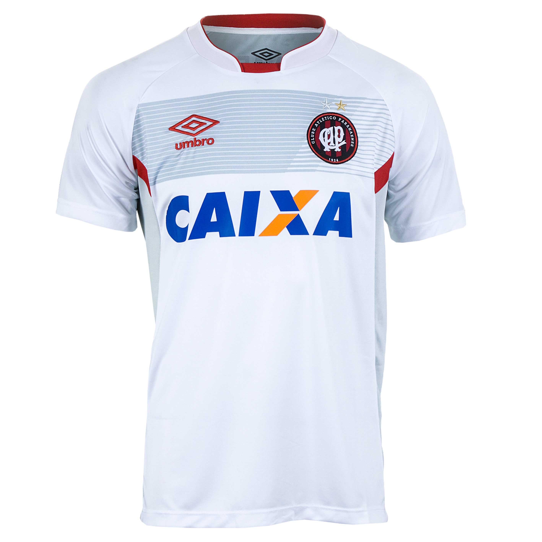 Camiseta Masc. Umbro Atlético Paranaense Treino 2017 - Branco/Vermelho