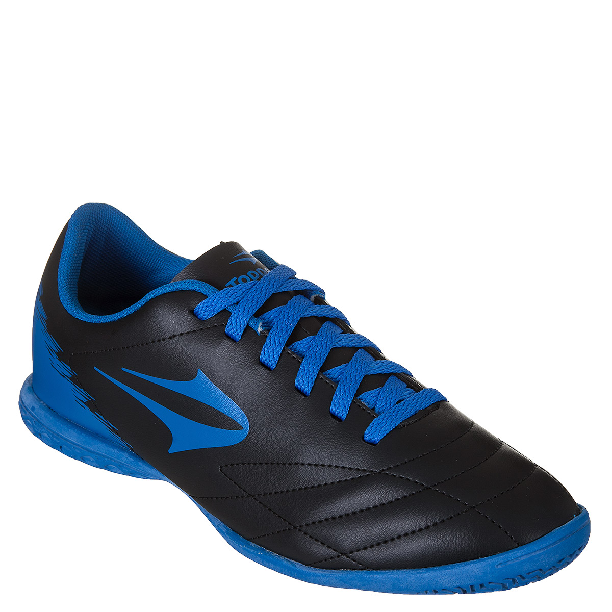 Chuteira Topper Slick 2 Futsal Masculino - Preto Azul  9cb6cec854ed5