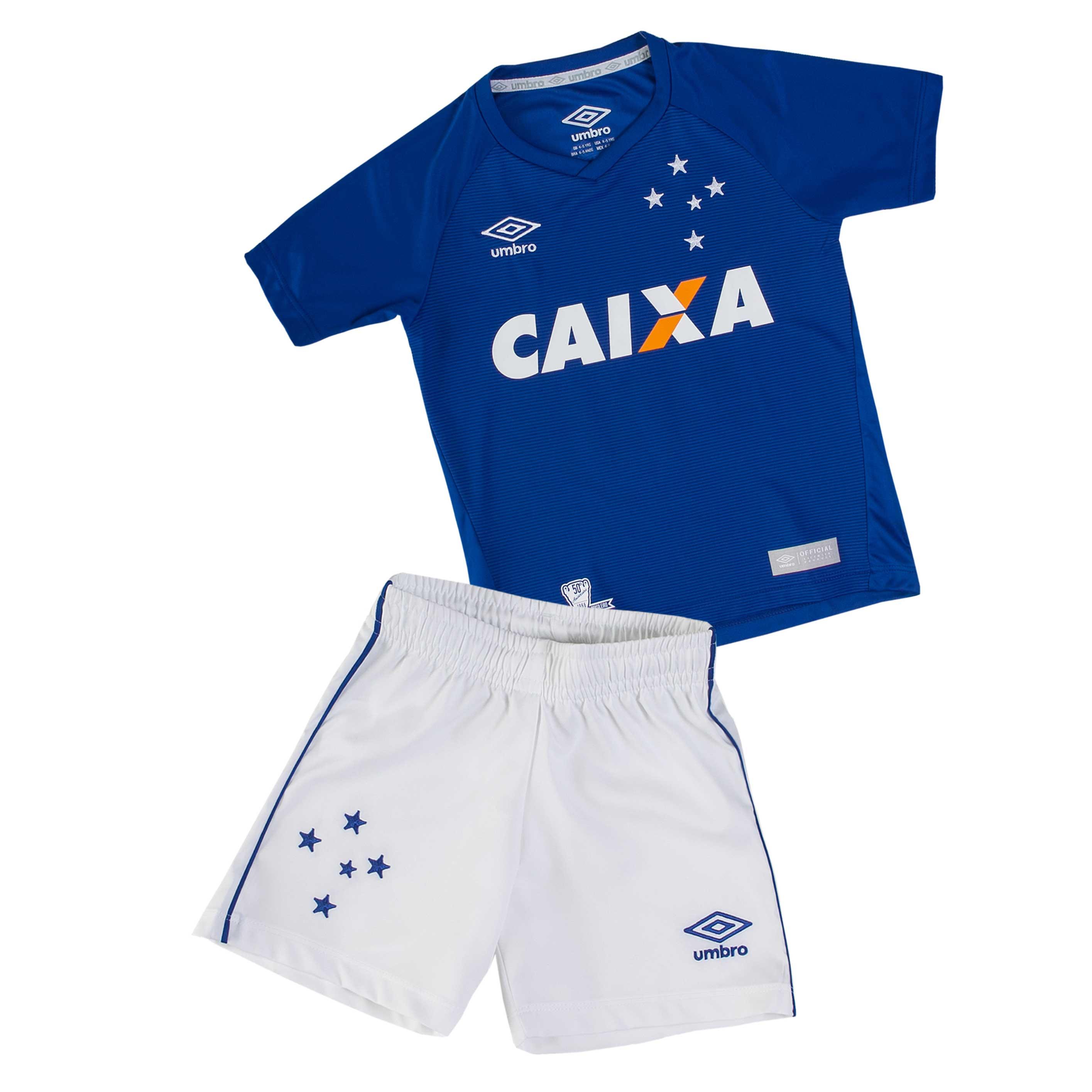 Kit Infantil Umbro Cruzeiro 2016 - Azul Branco  66eb845e95eee