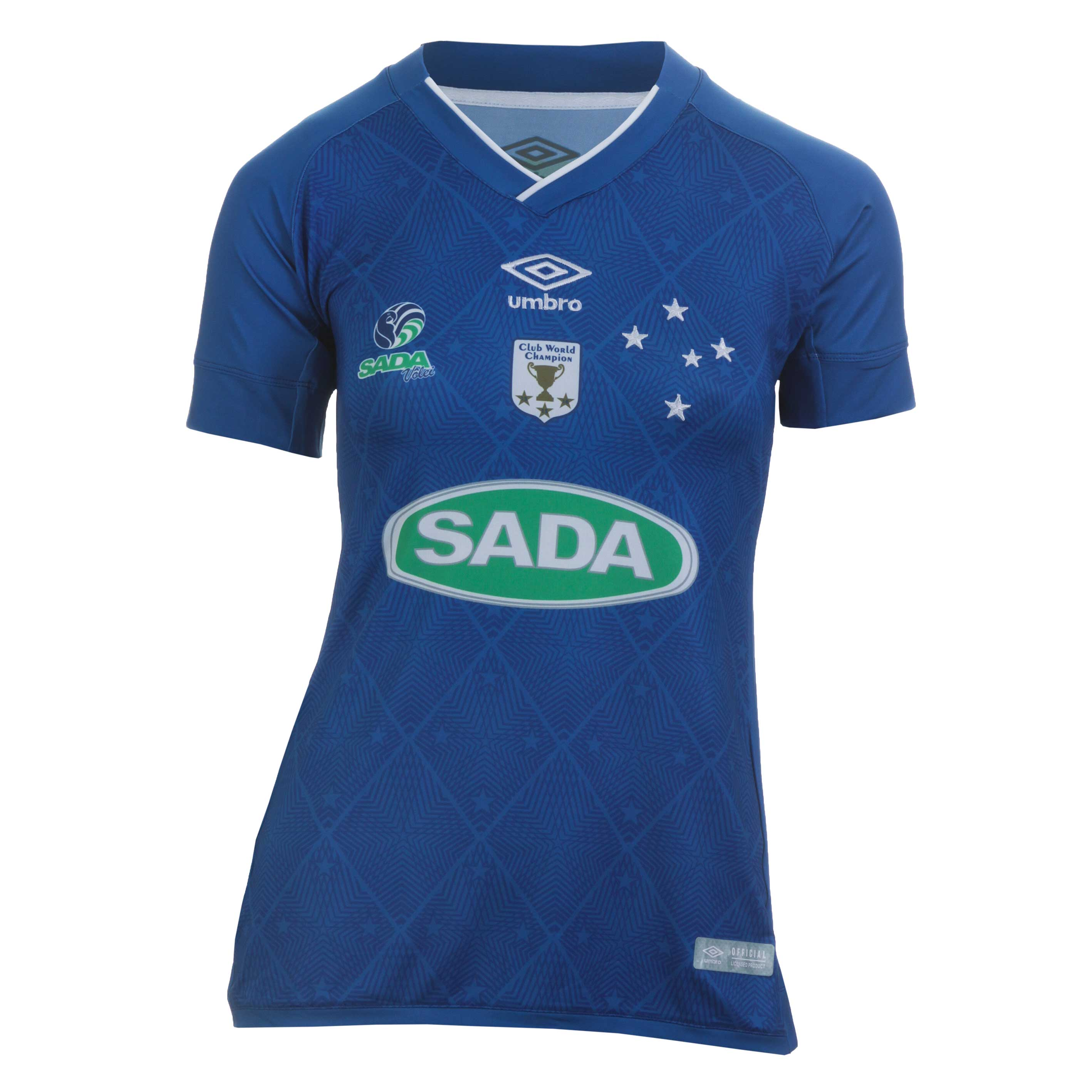 Camiseta Fem. Umbro Cruzeiro Volei Of.3 Casual - Royal