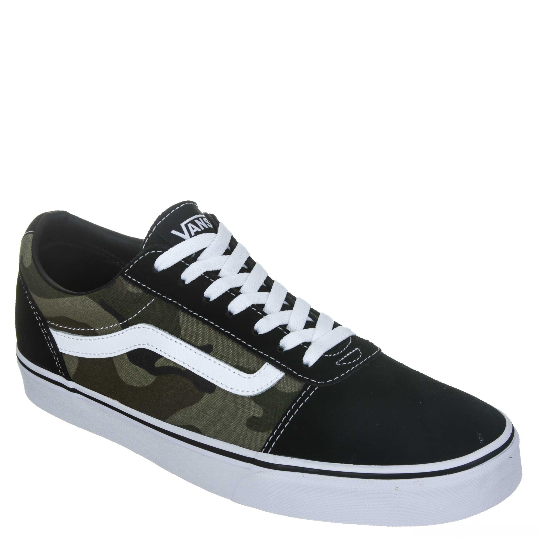 c4fa9438308 Tênis Vans Ward Deluxe Masculino Skate - Preto Verde Militar