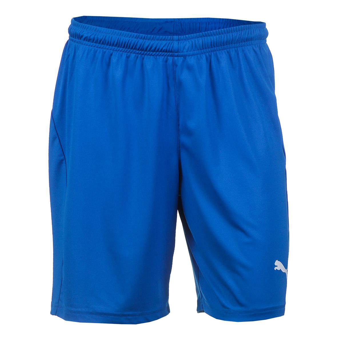 Short Masc. Puma Liga Core Esporte - Indoor - Royal/Branco