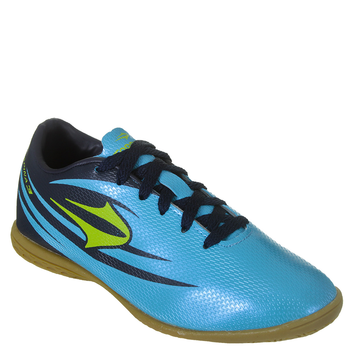 2daf3d420b17f Chuteira Futsal Topper Rapina 3 Masculino - Azul/Limão | World ...