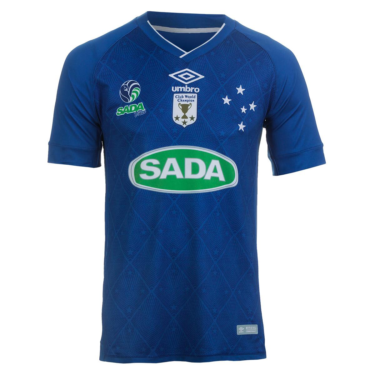 Camiseta Masc. Umbro Cruzeiro Volei Of.3 Casual - Azul Marinho/Branco