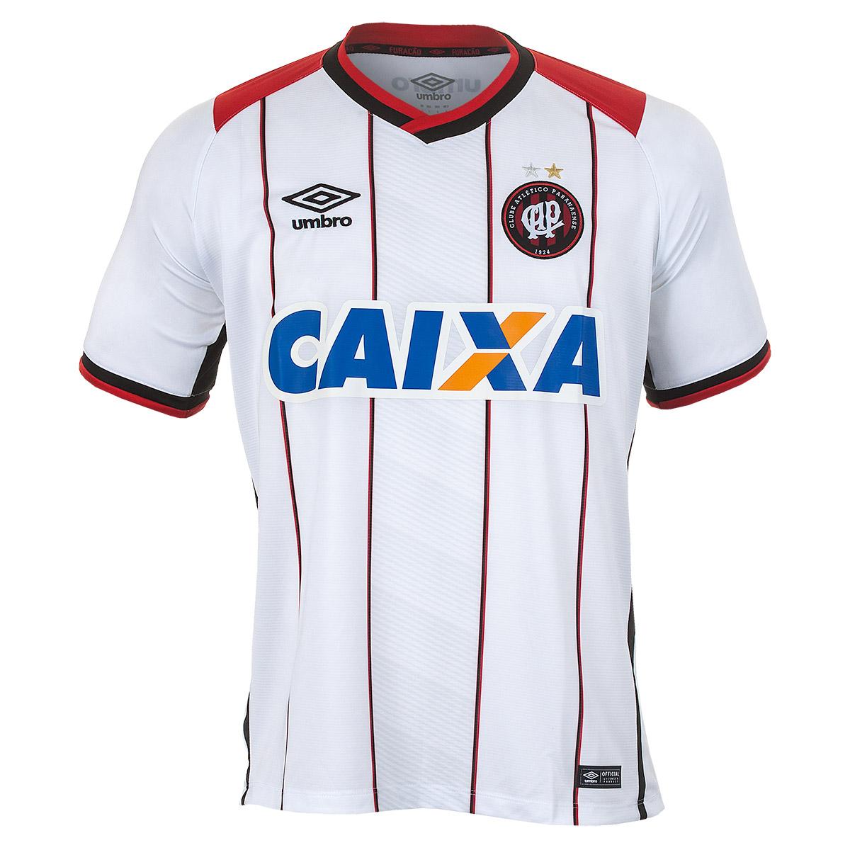 Camisa Masc. Umbro Of. Atlético Paranaense 2 2016 Futebol - Branco/Vermelho