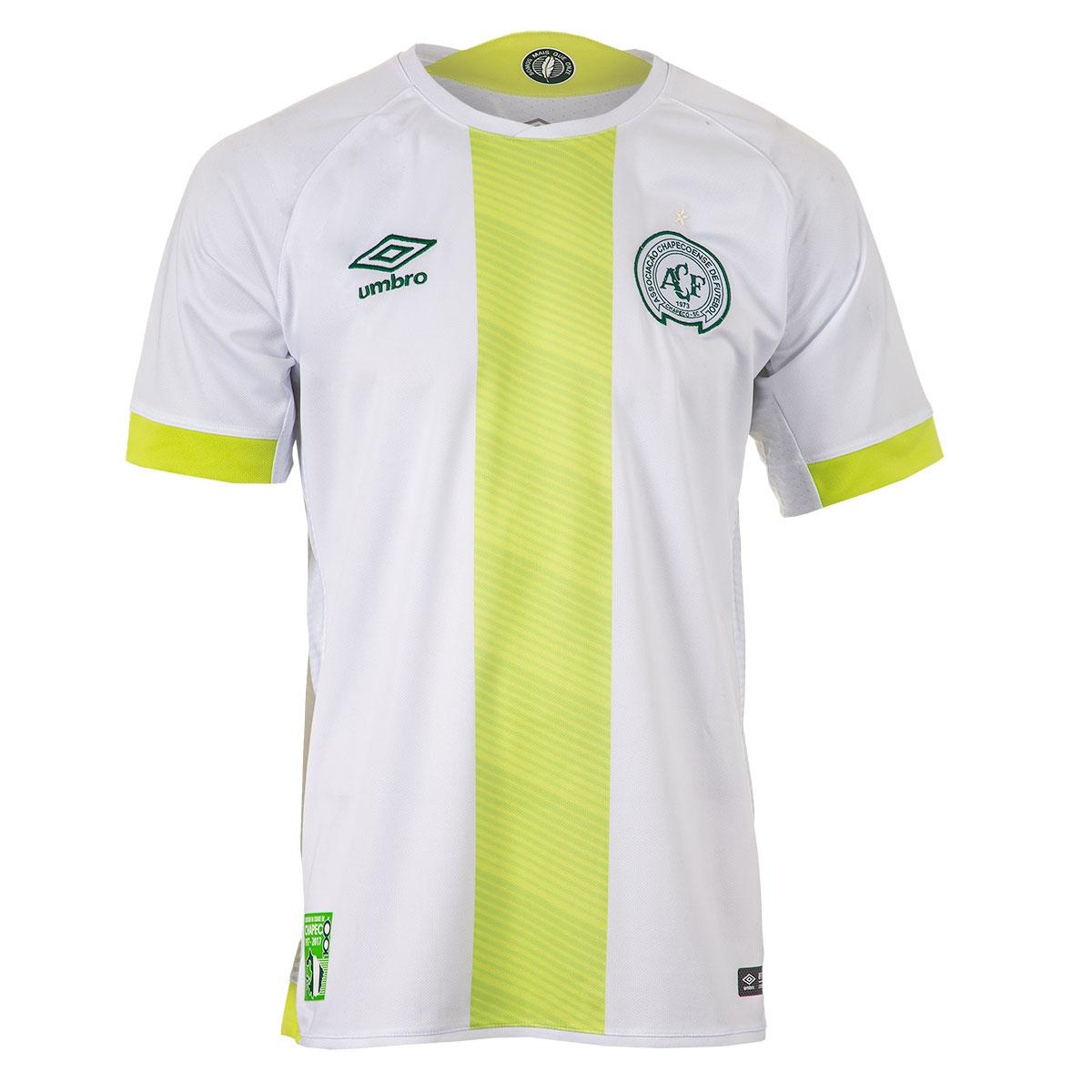 Camisa Masc. Umbro Chapecoense Of. 2 2017 Futebol - Branco/Verde