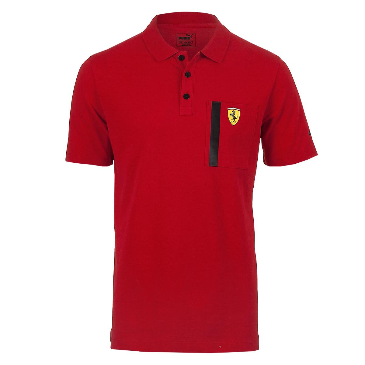 Camisa Polo Masc. Puma Styfr Scuderia Ferrari - Vermelho
