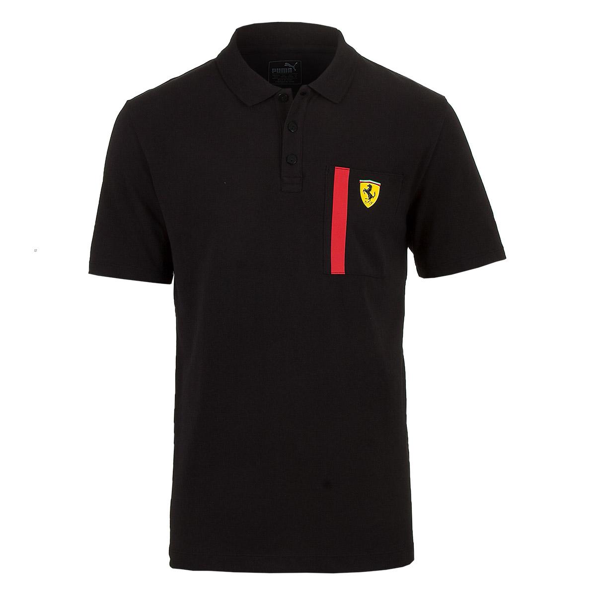 Camisa Polo Masc. Puma Styfr Scuderia Ferrari - Preto