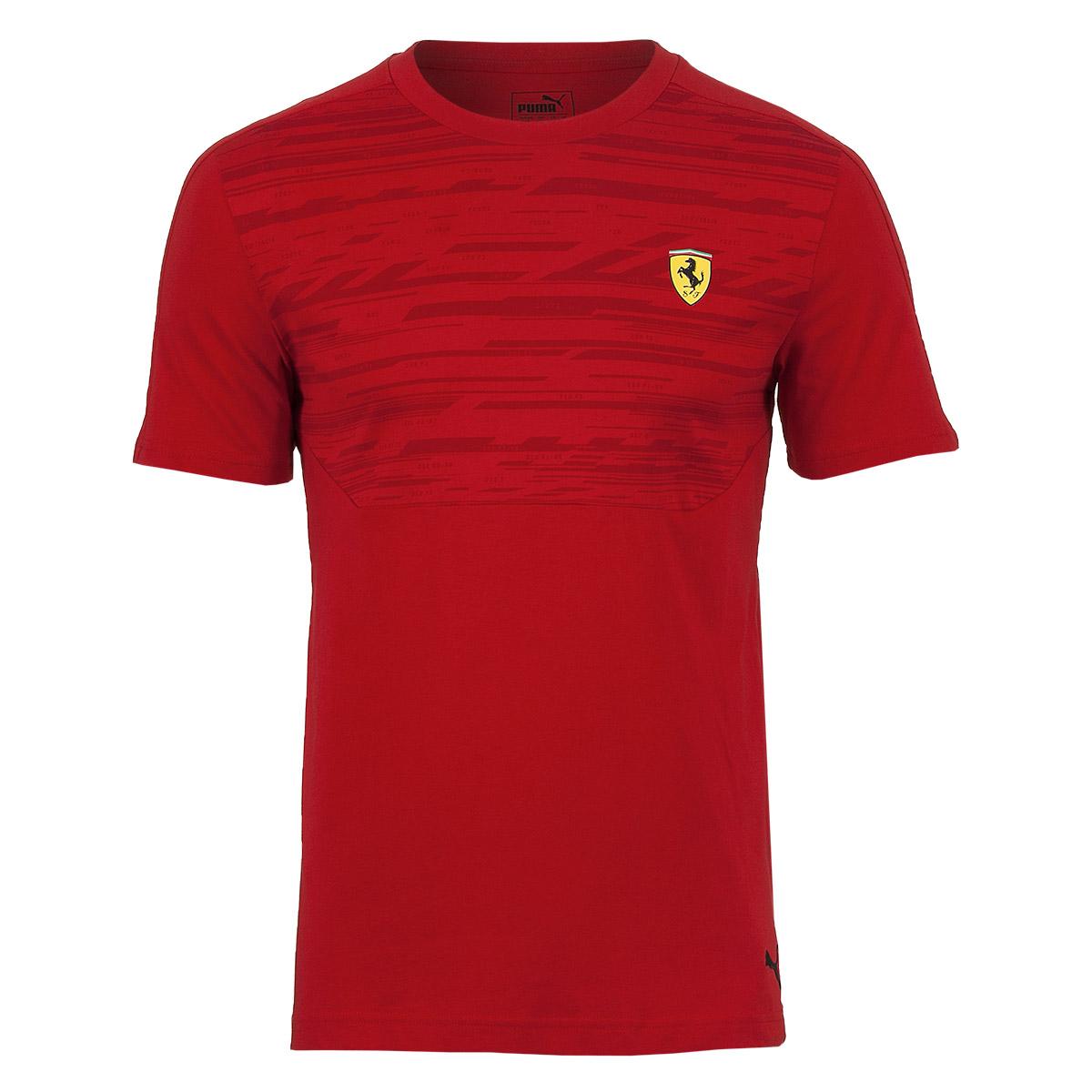 Camiseta Masc. Puma Styfr Scuderia Ferrari Tee - Vermelho