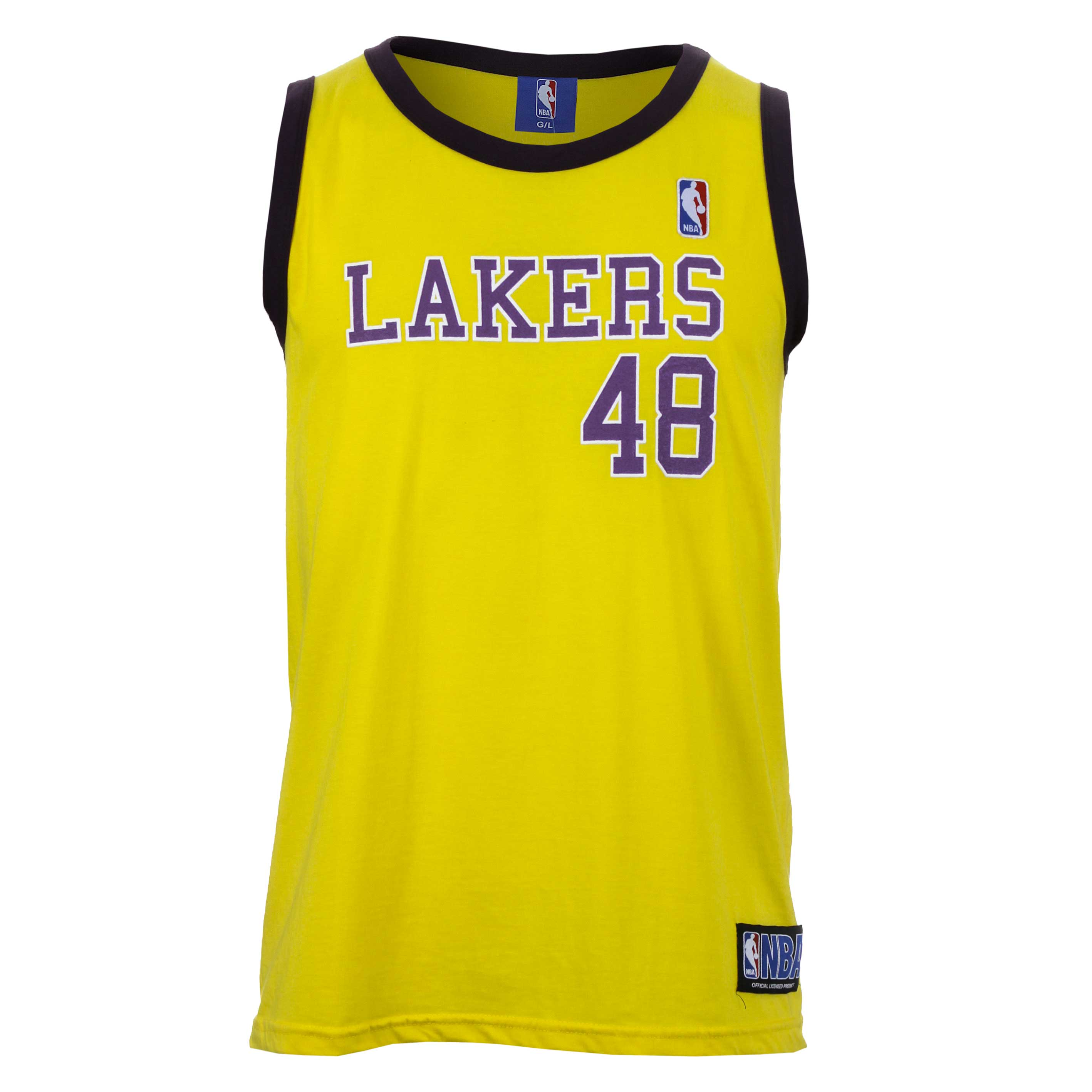 Regata Masc. Spr Nba Retro Lakers Esporte - Indoor - Amarelo