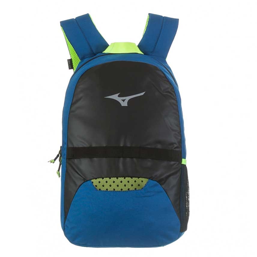 Mochila Mizuno Player Fit Unissex Casual - Preto/Azul Claro