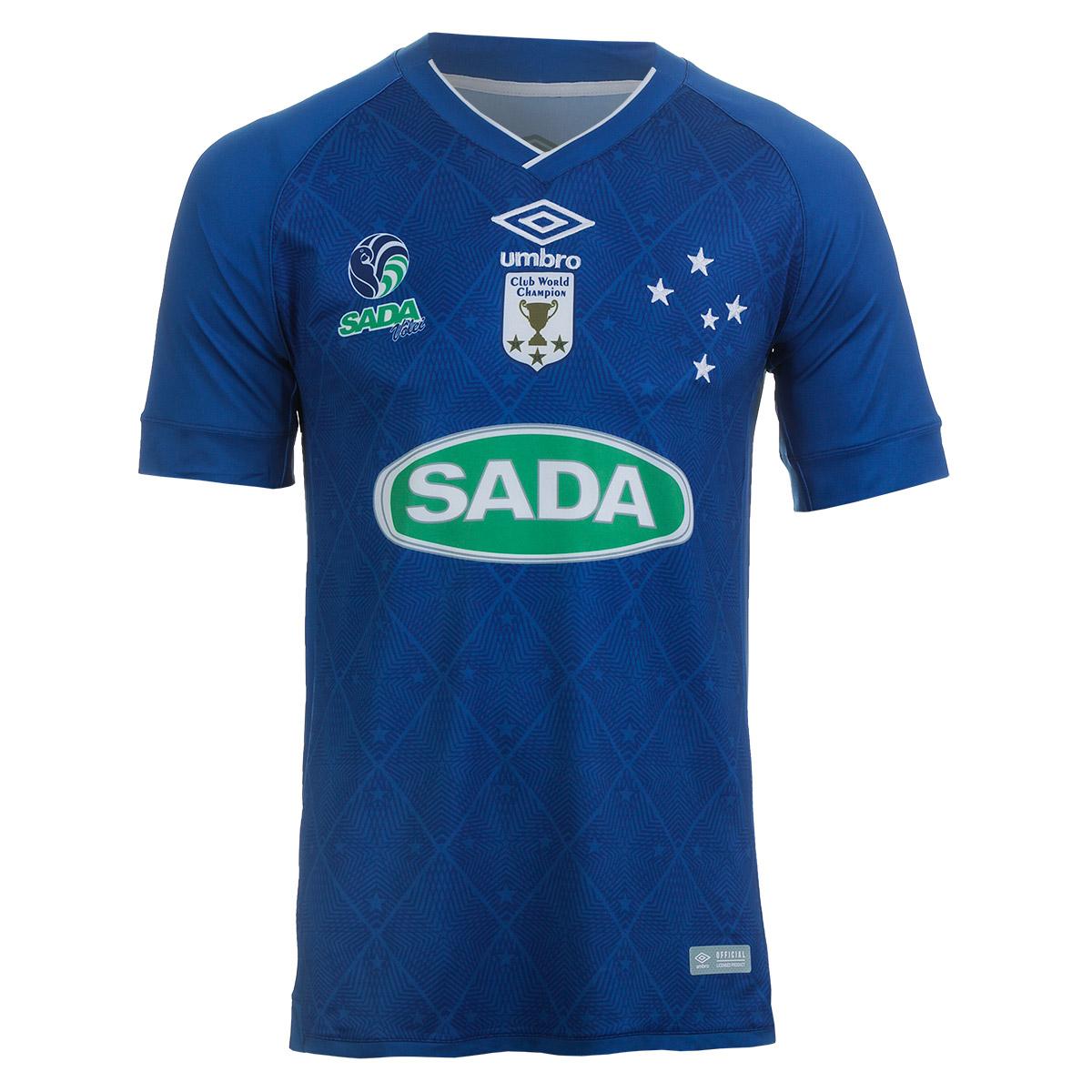 Camiseta Masc. Umbro Cruzeiro Volei Of.3 - Royal/Branco