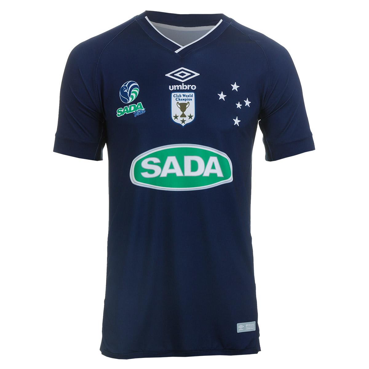 Camiseta Masc. Umbro Cruzeiro Volei Of. 1 - Marinho/Branco