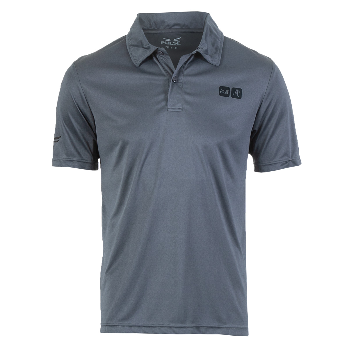 Camisa Polo Masc. Pulse Sports Casual - Chumbo