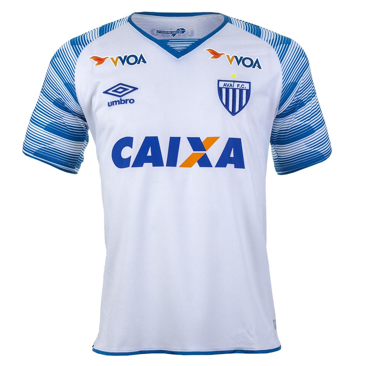Camisa Masc. Umbro Avai Of 2 Esporte - Indoor - Branco/Azul