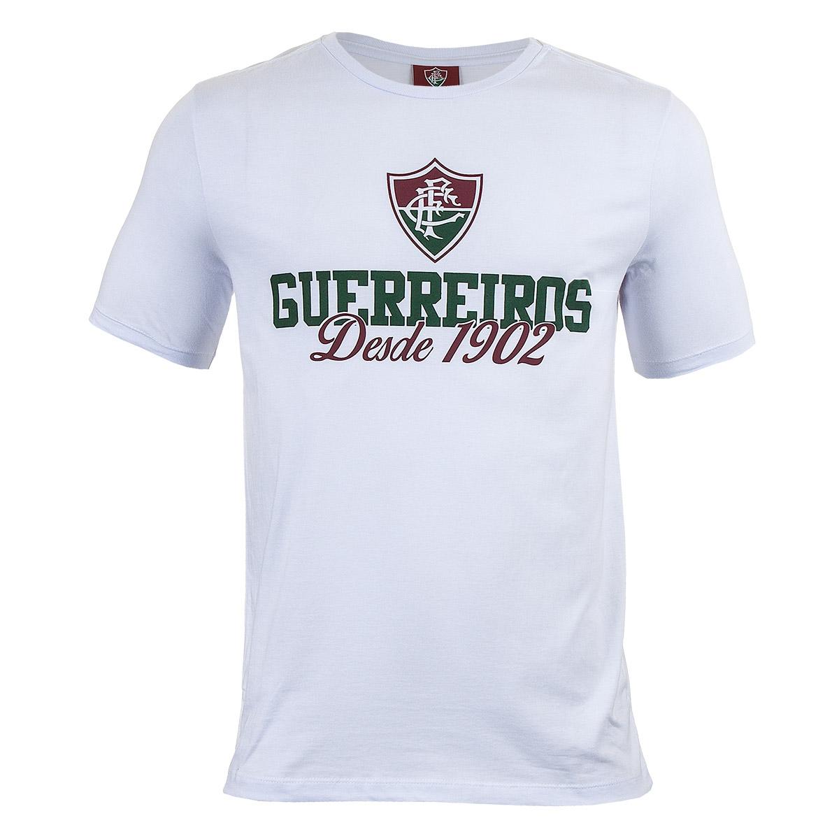 Camiseta Masc. Fluminense Casual - Branco