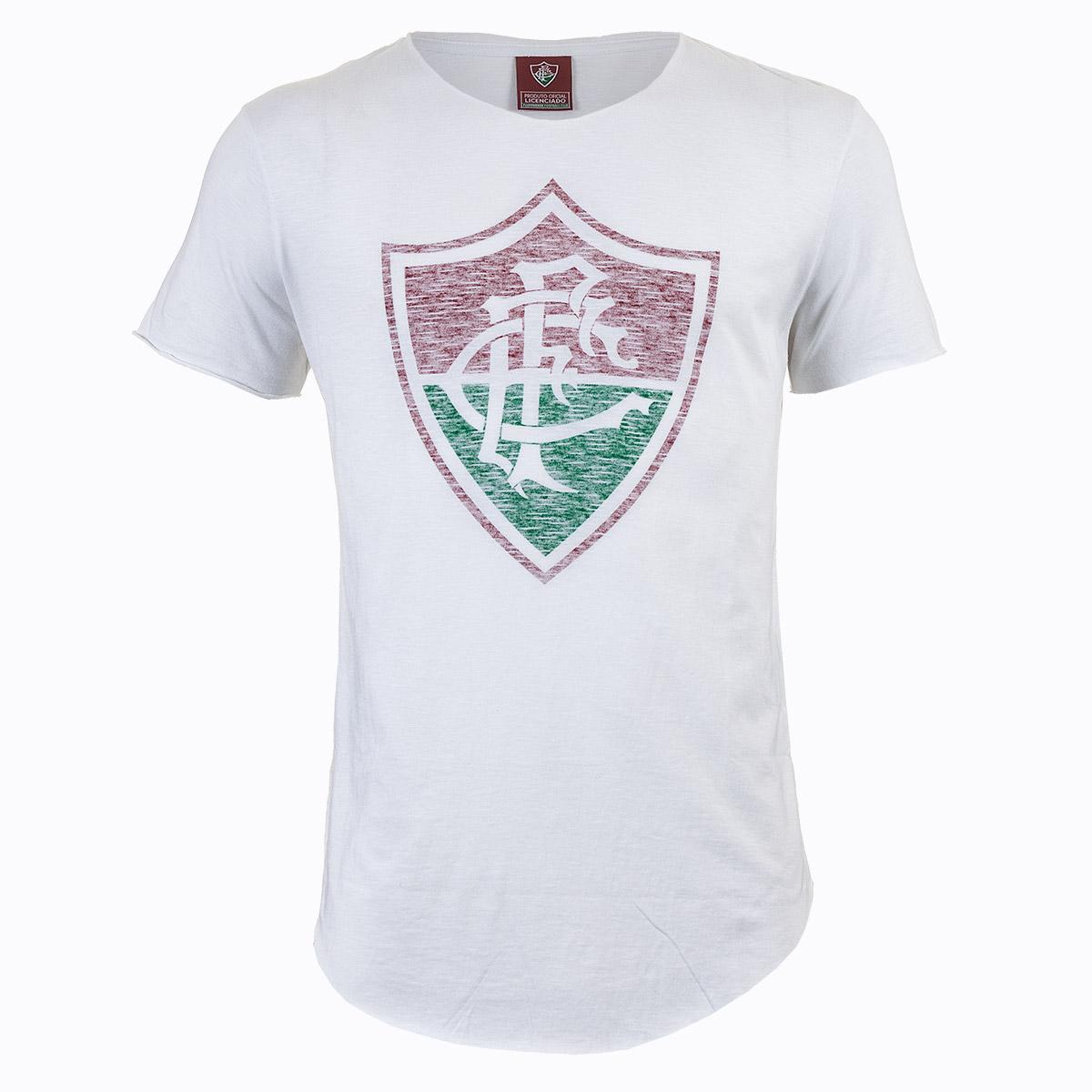 Camiseta Masc. Fluminese Casual - Branco