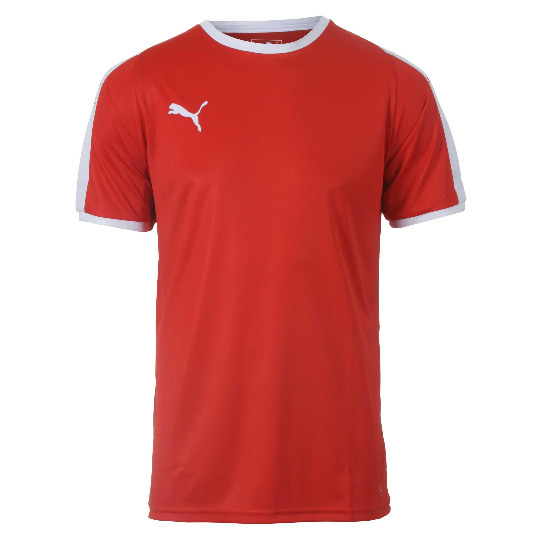 Camiseta Masc. Puma Liga Jersey - Vermelho/Branco